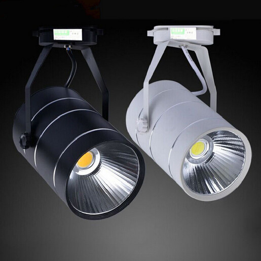 Free Shipping LED Track Light 30W COB Rail Lights Spotlight Equal 200W Halogen Lamp Warm Cold Natural White 85-265V/AC
