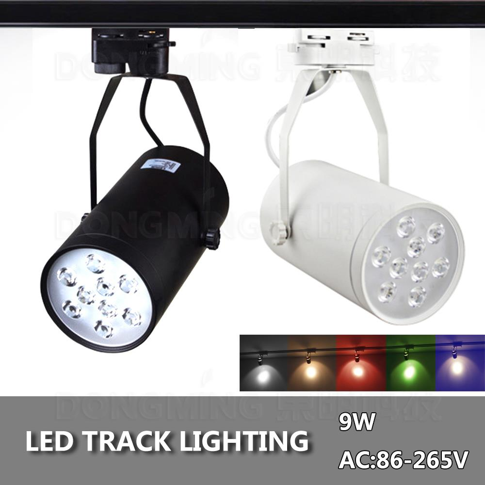 2pcs/lot 9W track light energy saving 780LM White/Black Ce&Rohs AC85-265V Super bright Warm white/white LED Rail Light