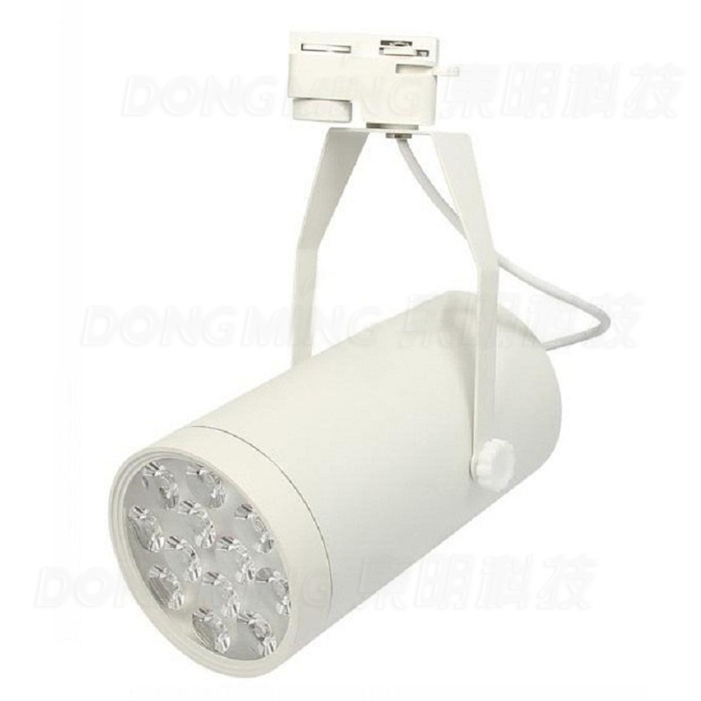 Hot sale 12w LED Track Light AC85-265V White/Black supermakret store spot lamps Decorate track lighting led bright
