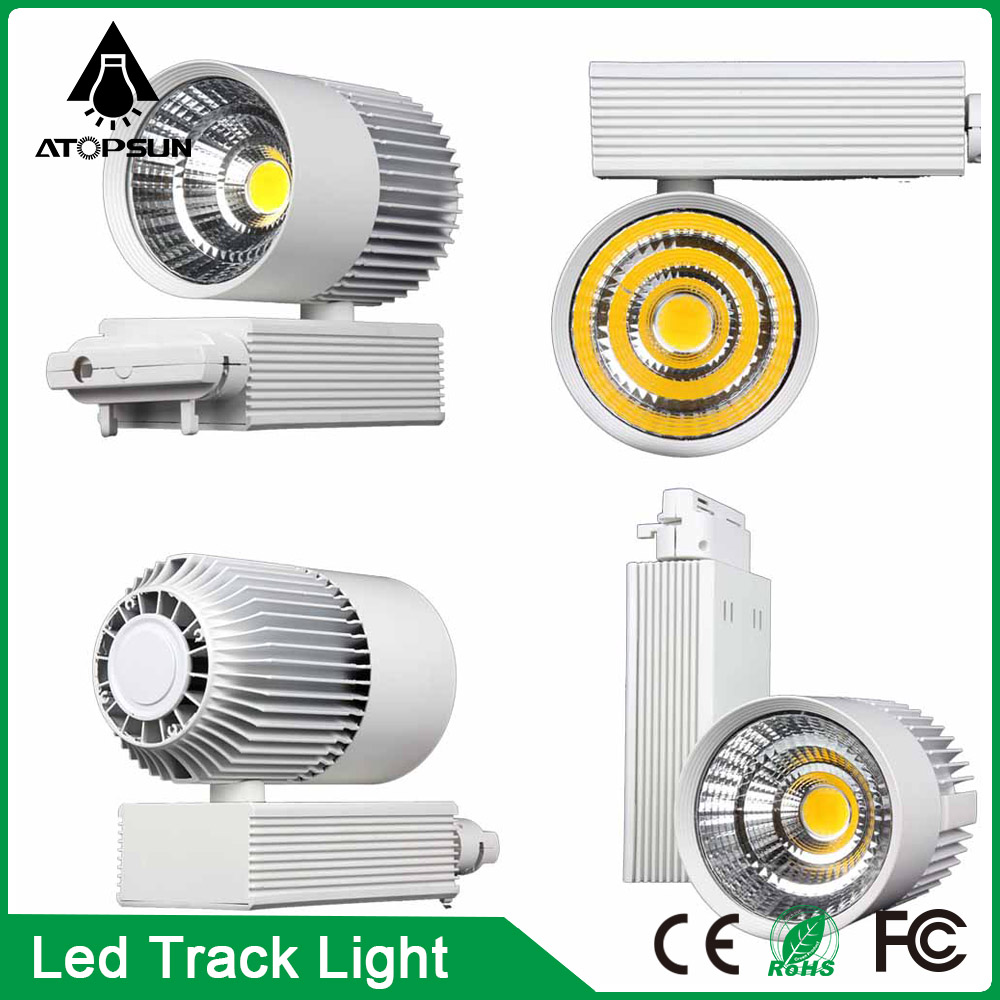 10PCS LED Track Light 20W 30W COB Spotlights AC85-265V Modern Home Deco Ceiling Track Rail Fixture for Retail Shop Art Gallery