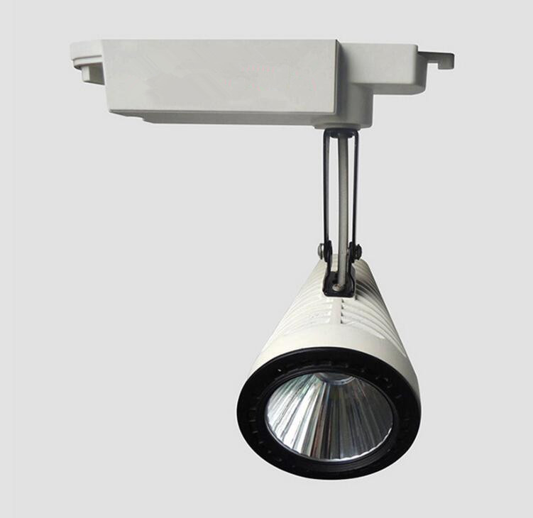 NEW COB 30W LED Track light AC85-265V Track Lighting Retail Spot Wall Lamp Rail Spotlights Replace Halogen Lamps Warm Cold White