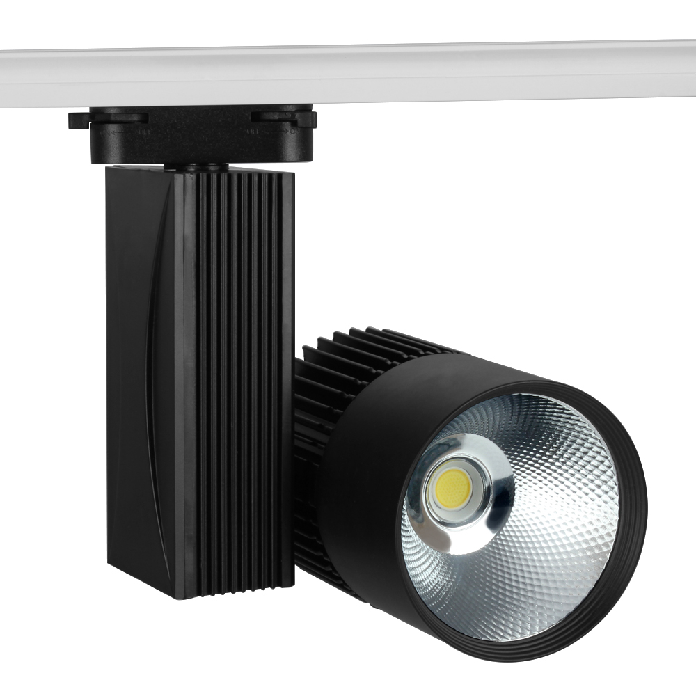 LED Track Light 30W COB Modern Rail Wall Light Ceiling Commercial Clothes Shoes Store Shop Lampada LED Spot Lamp Spotlight*15#25