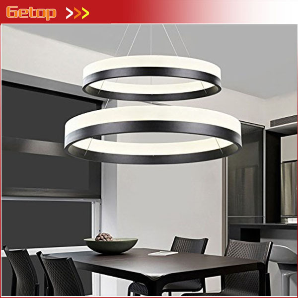 Best Price Modern Two Rings (11.8 - 19.7 Inches) Ceiling Light Fixture LED Lighting Circular Acrylic Lights