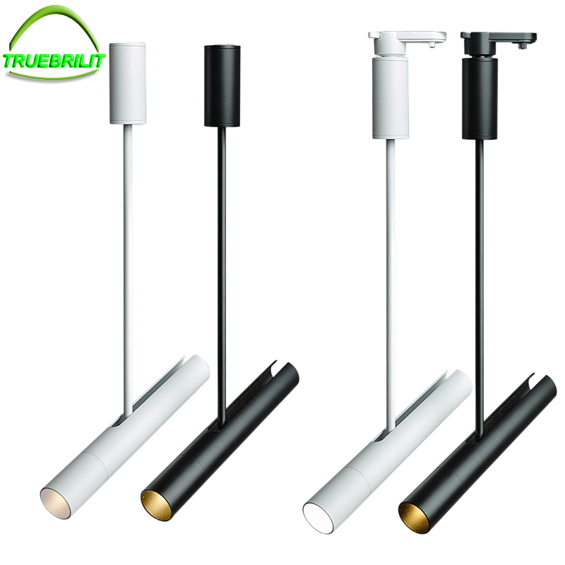 4pcs Modern LED Track Light Lamp 10W Clothing Shop Windows Showrooms Exhibition Spotlight COB Iluminacao Rail Spot Lamp AC220V
