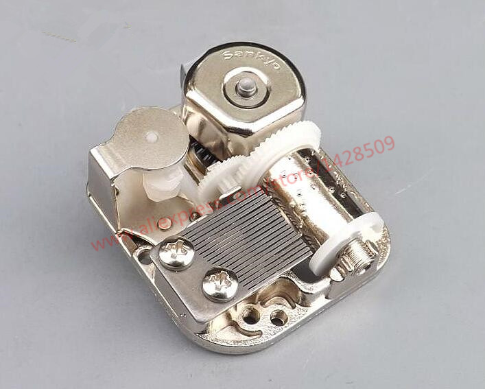 Gears 18 Notes DIY Mechanical Musical Box Golden Movement And Screws Music Boxes Set for DIY music box