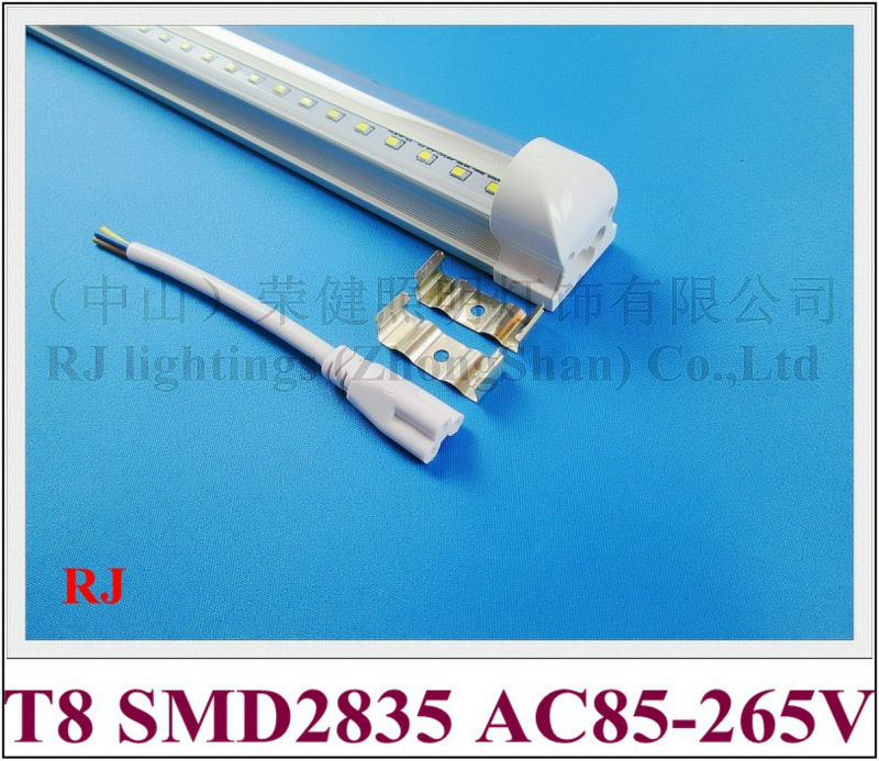 integrated LED tube lamp light 0.6M 9W / 0.9M 15W / 1.2M 20W / 1.5M 25W / 1.8M 30W / 2.4M 40W (optional) T8 SMD2835 AC85-265V