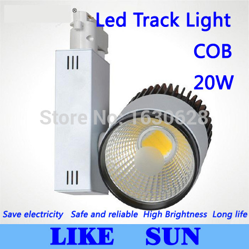 FREE SHIPPING New Arrival Led Track Light COB 20W  120 Beam angle AC 85-265V led spot lighting + CE ROHS CSA UL