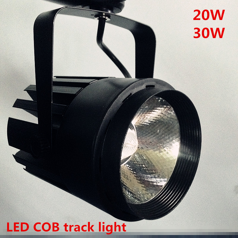 20pcs/lot 30W COB LED Track Light Bulb Taiwan Epistar chip spot light 85-265 Volt LED Wall Track Lighting 30W