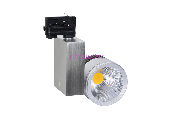 360 Degree Rotatable10pcs/lot 30W COB LED Track Light Commercial LED spot light  110-240V Non Diimable 3000-6000K
