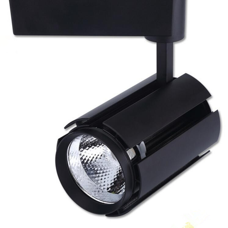 Factory Wholesale High efficiency 30W White/Black shell COB LED tracking light for cloth shop lighting express free shipping