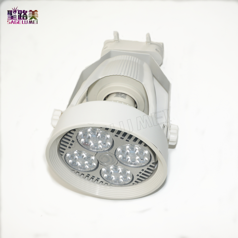 led track lights 45w par30 clothing spotlights backdrop shop windows slide rail track light lamp warm / nature / cold white