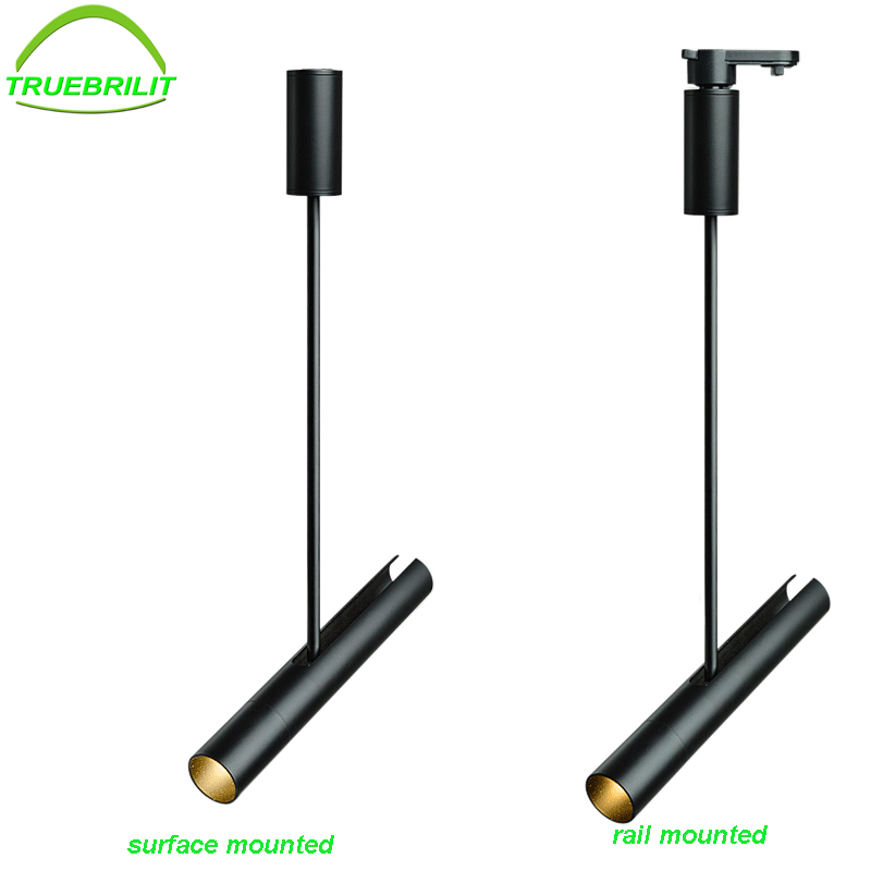 Modern LED 10W Tracking Light Clothing Shop Lamp Windows Showrooms Exhibition Spotlight COB Iluminacao Rail Spot Lamp AC220V