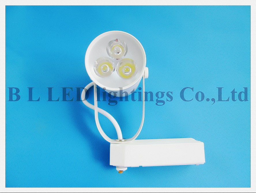 high power LED rail spot lamp light LED track light spotlight 3W AC85-265V 3LED 3*1W white/warm white CE ROHS free shipping