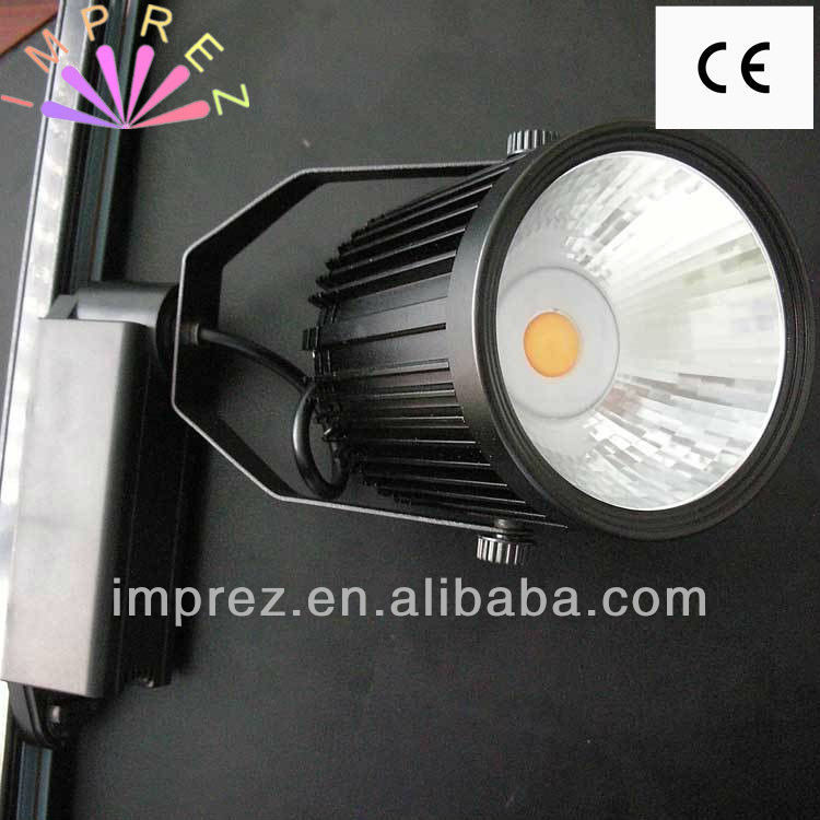 High Power 50W COB Led Track Lamp Indoor Episar Led Tracking Rail Spot Lamp 3 Years Warranty