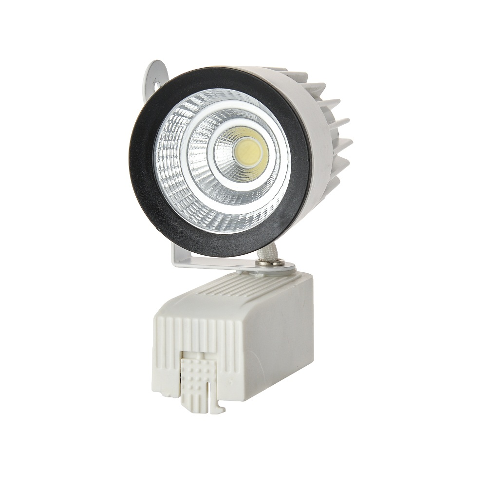 NEW LED COB Track Rail Light AC85- 265V Spotlight Adjustable Rail Track Lighting lamp for Mall Exhibition Office white