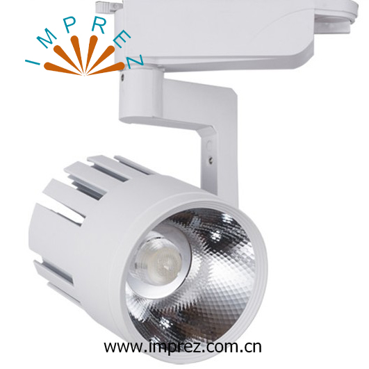 New 20W modern track spot light 30beam angle 100LM/W 2 rails 3 rails shopping mall close shop usage 85-265V 20W spot light