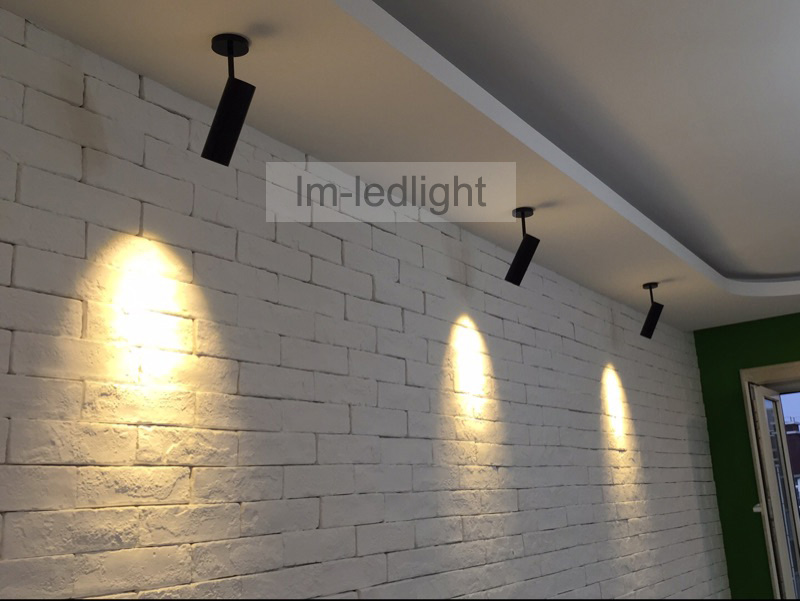 fast  free ship 40pcs COB LED spotlight 5W 7W surface mounted ceiling wall picture lighting in white and black indoor lighting