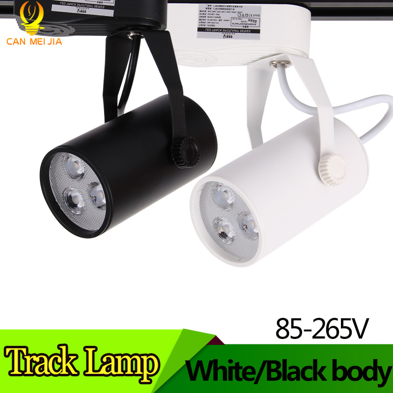 Modern LED Track Lights Lamp 3W Track Lighting Rail Spotlight 110V 220V  Commercial Led Lights for Cloth Store Shop