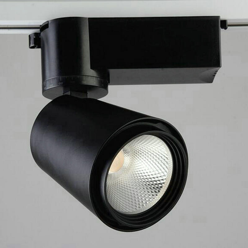 LED track light 20W 30W COB track lighting warm white cold white 110v 220v shop LED track lights Free shipping