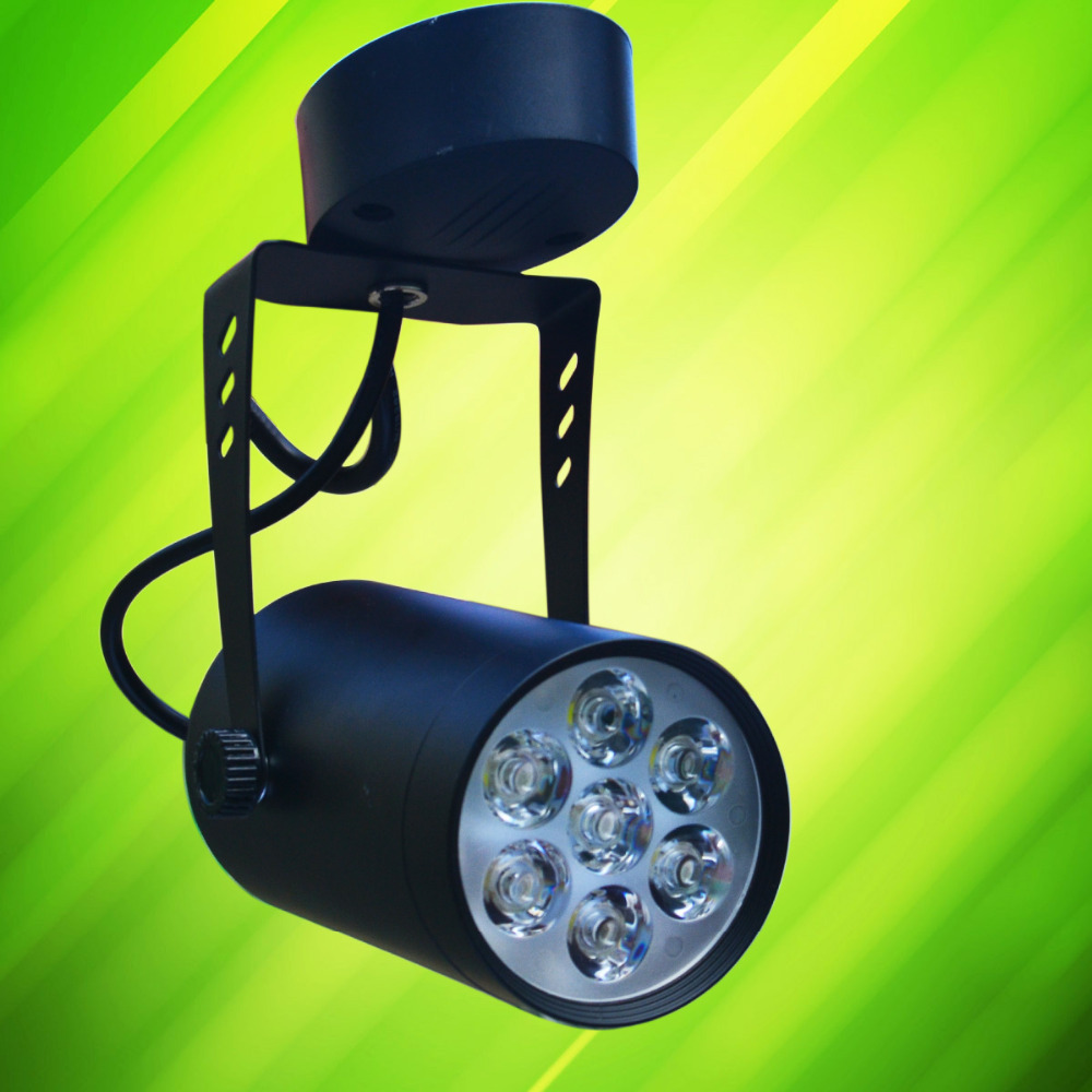 J&W 7W 7-LED Don't need to track  Track Light  LED ceiling lamp  Background  lamp- Black (AC 85~265V)