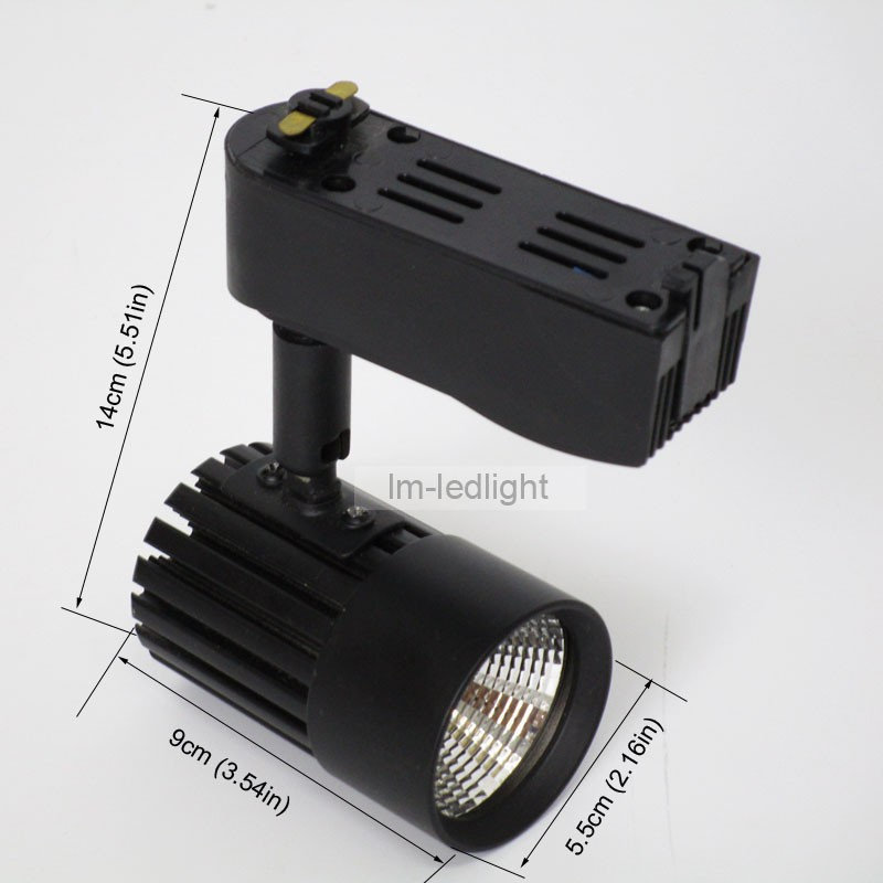 COB 7w led track light black (1)