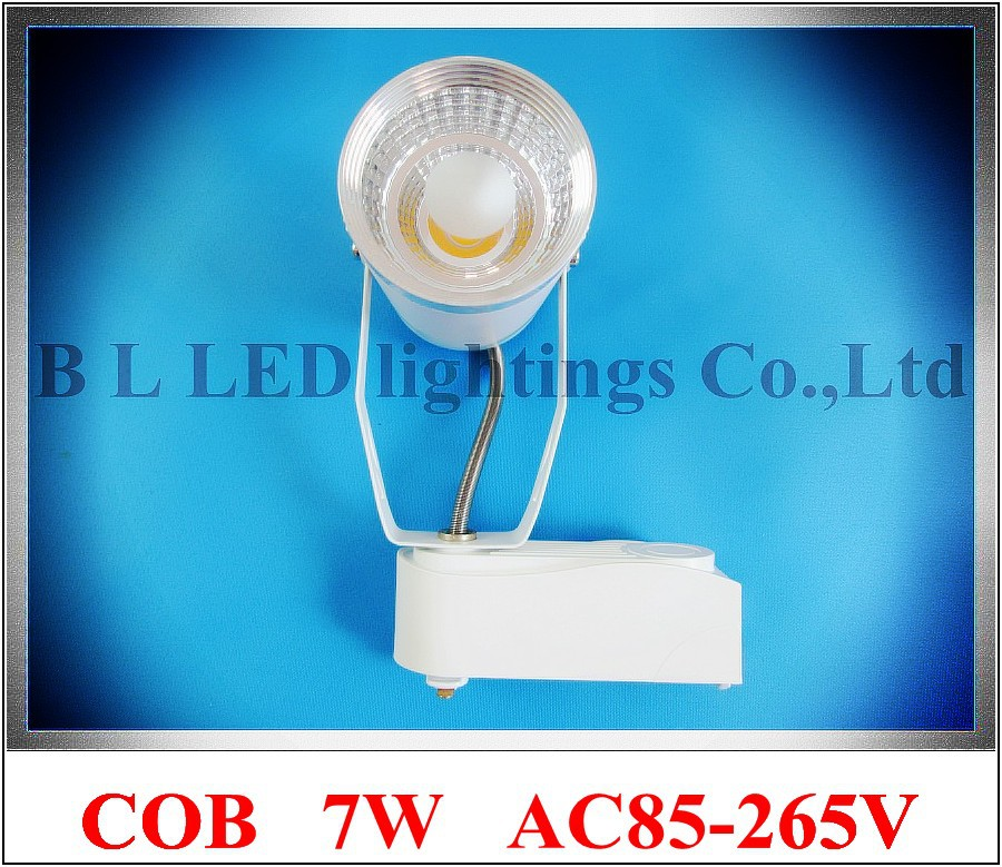Epistar COB LED rail spot light tracking light exhibition track light COB 7W constant current driver inside AC 85V-265V input