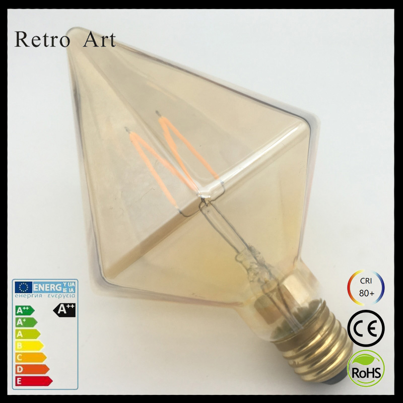 Sharp Diamond 4W D110 Retro style LED filament bulb Diamond edison LED light bulb design M filament novelty filament lamp