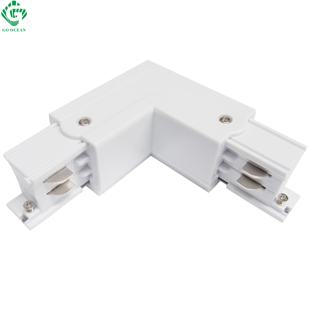 GO OCEAN Track Rail Connector Rail Connectors 4 Wire Connector Universal Track Rails Fitting For Track Light Connectors