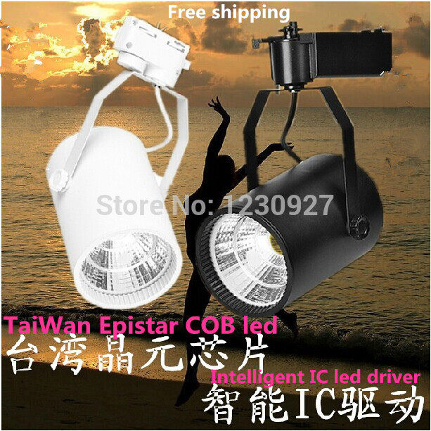 Free Shipping hot promotion Cob light led lamp  track lights spotlights 3w  85--265V  spotlight white black led lighting