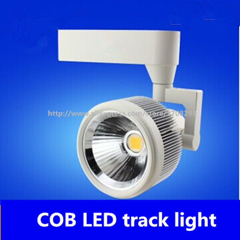 DHL 10pcs/lot Free shipping 24w LED Track Spotlight 85~100LM/W Track light AC85~265V,Integrated chips 2 PIN