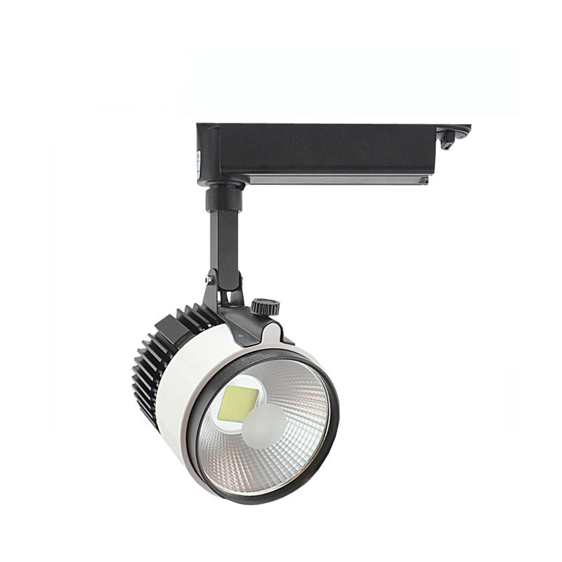 10X High quality 20W 60degree hight CRI integrated COB LED track light AC 85-265V express free shipping
