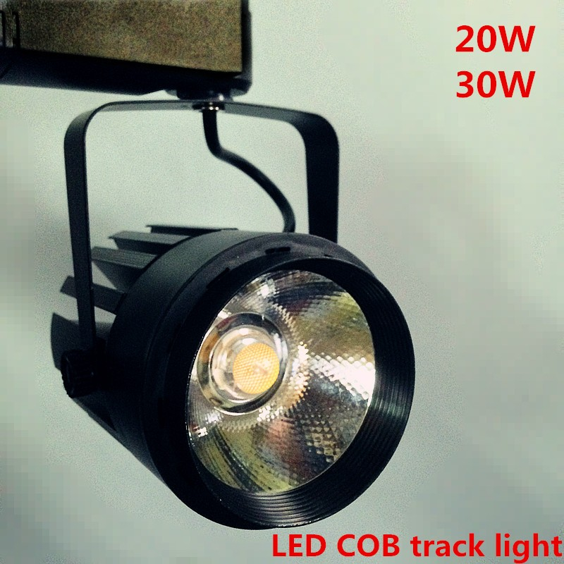 wholesale10pcs/lot 20W COB LED Track Light Bulb Epistar chip spot light 85-265 Volt LED Wall Track Lighting Shell black UK EU US