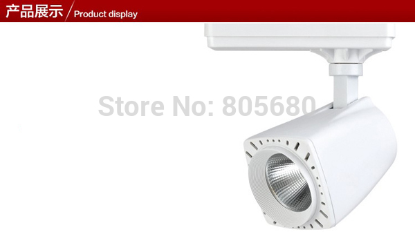 New Arrival 35W COB Led Track Light LED Rail Light Spotlight shop usage 24 beam angle warm white cold white free shipping