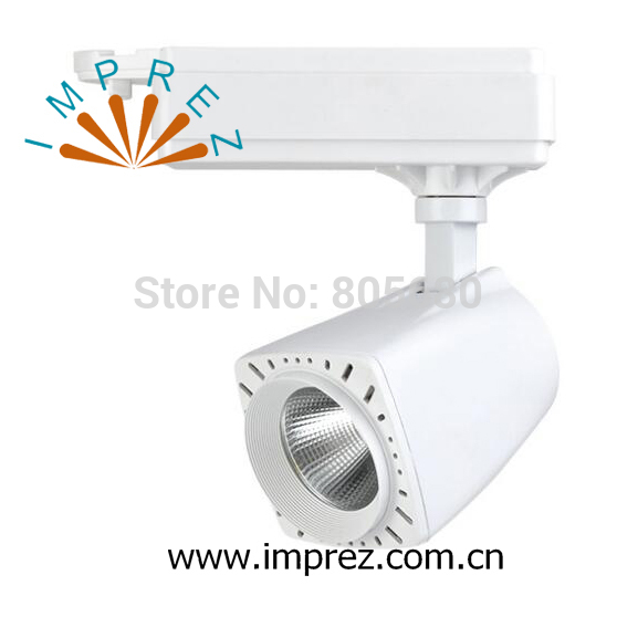 30W New style Led Track Light COB Rail Light Spotlight shop usage 24 beam angle warm white cold white free shipping