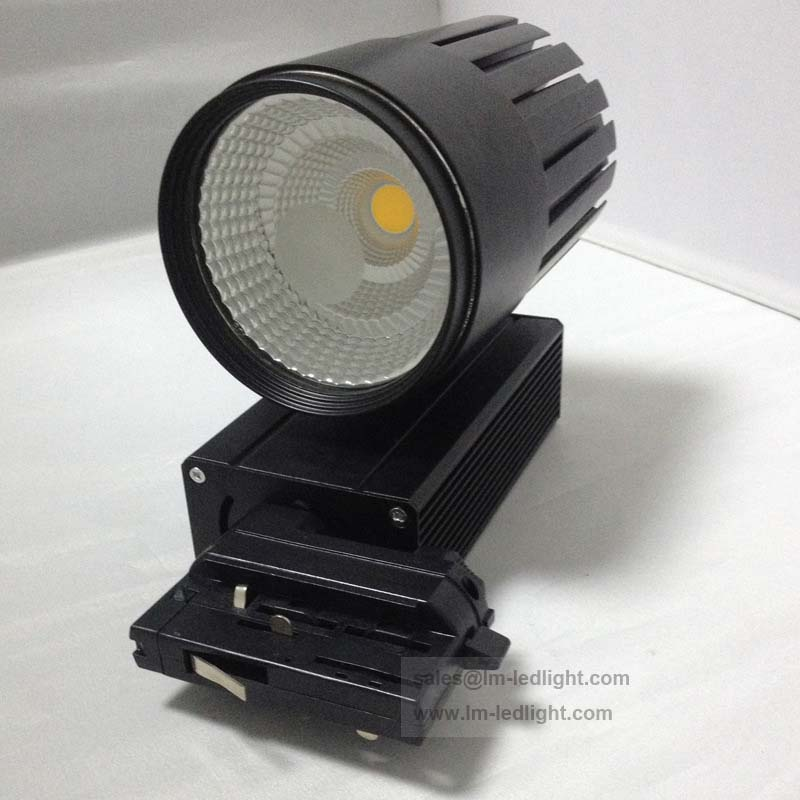 3phase rail spot light black white 4 wire LED track light warm/day/ cold white 85-265V led light clothing free ship 10pcs