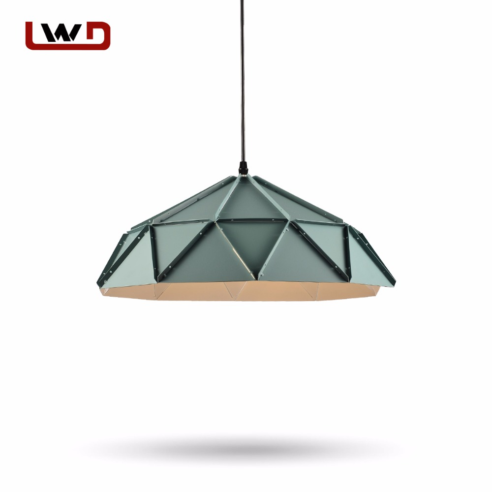 Nordic Pendant Lights For Home Lighting Modern Hanging Lamp Iron Lampshade LED Bulb Bedroom E27 Metal Kitchen Light
