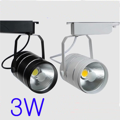 3W AC90-260V Track Led Spotlight White/Black Body Aluminum Material
