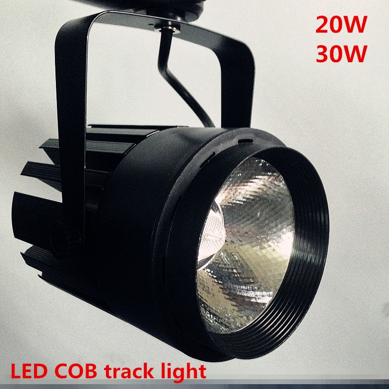 wholesale 2pcs/lot 20W COB LED Track Light Bulb Taiwan Epistar chip spot light 85-265 Volt LED Wall Track Lighting Shell black