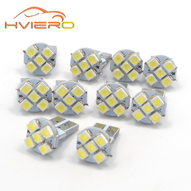 Wholesale White T10 5smd 5 smd 1210 3528 Wedge Automotive Auto Bulb led Car Lighting World wide side marker Lamp tail light