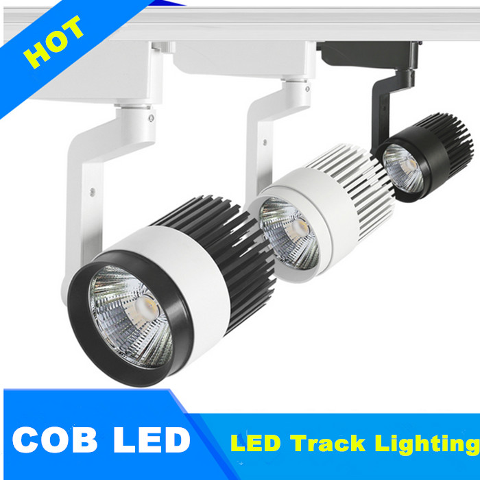 2PCS  110 V 220 V LED spotlight rail track light lamp 30W COB LED track light