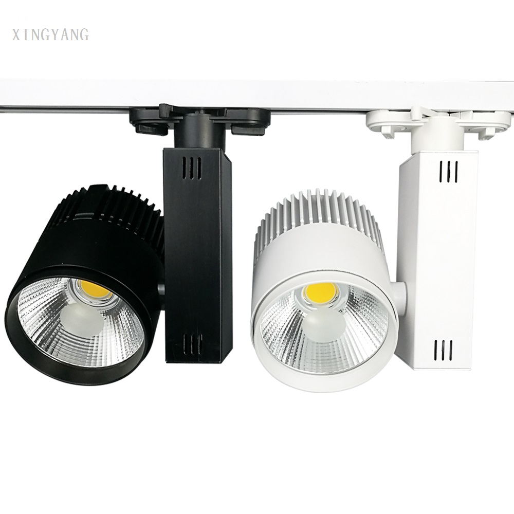 40W LED Track Lights COB LED Track Light  Modern Kitchen Ceiling Commercial Global Industrial Shop Stores Rail Light Indoor Ligh