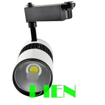 2014 New 30W COB led track light 220V 30W clothing store track spot lamp white high Power CE&ROHS by DHL 10pcs