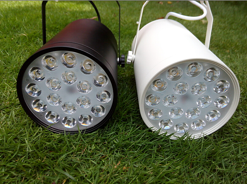 18W LED Track Lights Indoor Lighting 85-265V AC Red Blue Green Warm white Cool white Natural white CE ROSH High Power 18X1W Lamp