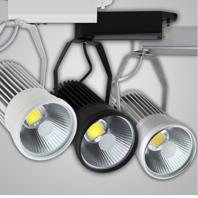 40W COB Led Track Light Rail Lamp COB Rail Light AC85-265V Equal 400W Halogen Lamp LED Spotlight Track Lamp 40W Track Lighting