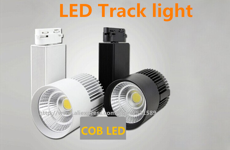 10pieces/lot 30W COB LED track light COB Rail Light Spotlight Lamp Replace 300W Halogen Lamp 110V220V230V 2pin 3pin customized