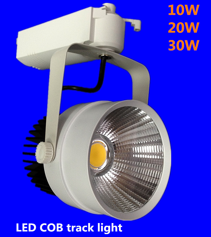 LED Track Light 30W COB Rail Light Spotlight Lamp Replace 300W Halogen Lamp 110v 120v 220v 230v 240v Warm/Cold/ Natural White UK
