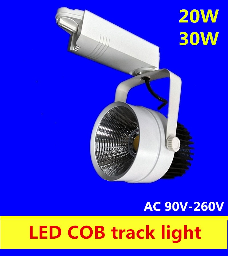 LED Track Light 30W COB Rail Light Spotlight Lamp Replace 300W Halogen Lamp 110v 120v 220v 230v 240v Warm/Cold/ Natural White
