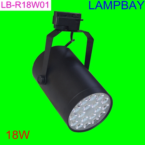 (10 Pack) Free Shipping LED Track lights 18W Rail lamp Black Body High lumens spotlight for store lighting 85-265V