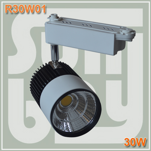 Free shipping LED track light 30W COB high lumens high quality rail light spotlight two years warranty