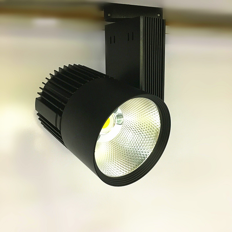 20W COB LED track light 3-wire ( white or black Body ) spotlight rail track light lamp AC85V-240V 50pcs/lot